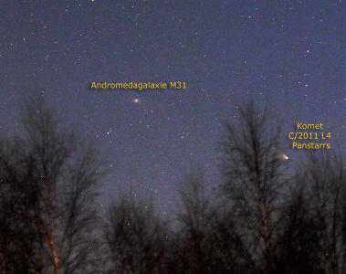 Komet Panstarrs C/2011 L4