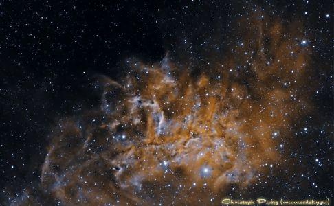 "IC405 ""flammender Stern"""