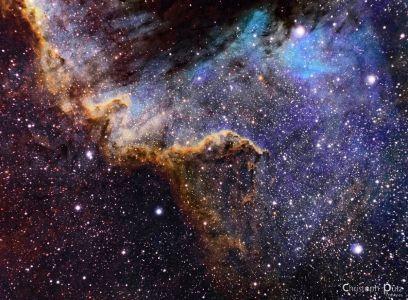"""Der """"Cygnus-Wall"""" im Nordamerikanebel"""