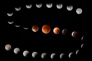 Mondfinsternis 2015 (Collage). Quelle: Achim Heep, VAS e.V.